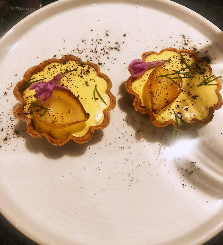 Michelin Guide Dinner Series Custard Tartlet