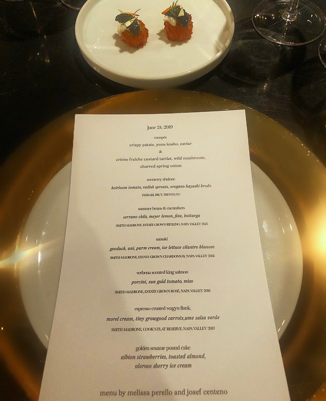 Michelin Guide Dinner Series Menu